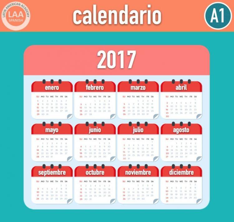Calendario Espanol Más Arriba-a-fecha Vocabulario Calendario Calendario Aprender Español