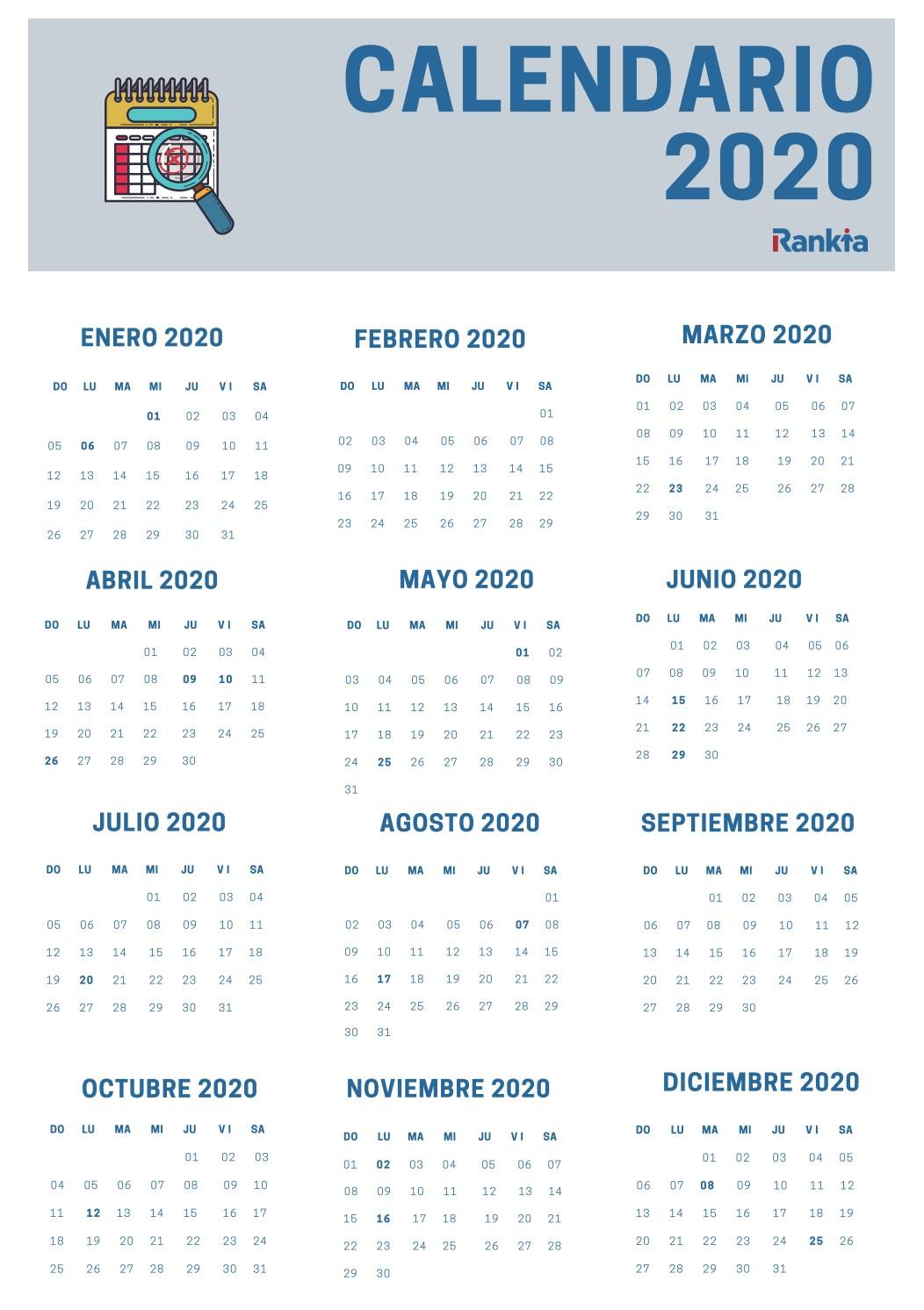 calendario laboral colombia dias festivos 2020