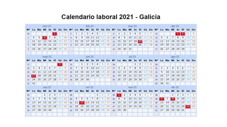 Calendario Laboral 2021 Más Populares Calendario Laboral Galicia 2021 Concello De Barbadás