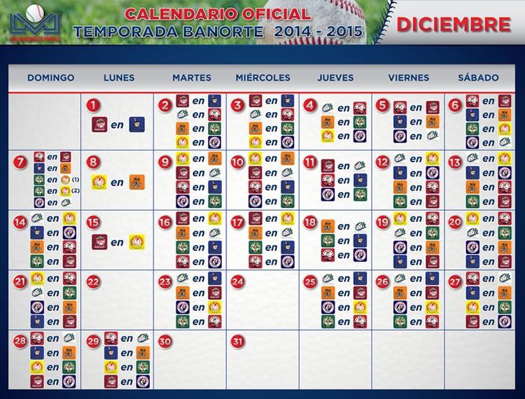 liga mexicana del pacifico calendario oficial temporada banorte 2014 2015