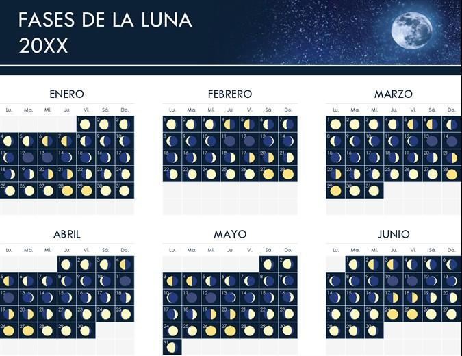 fases del calendario lunar tm