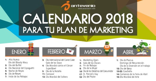 calendario de marketing 2018