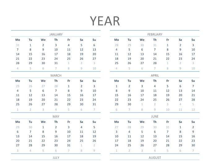 las mejores plantillas de calendario para office