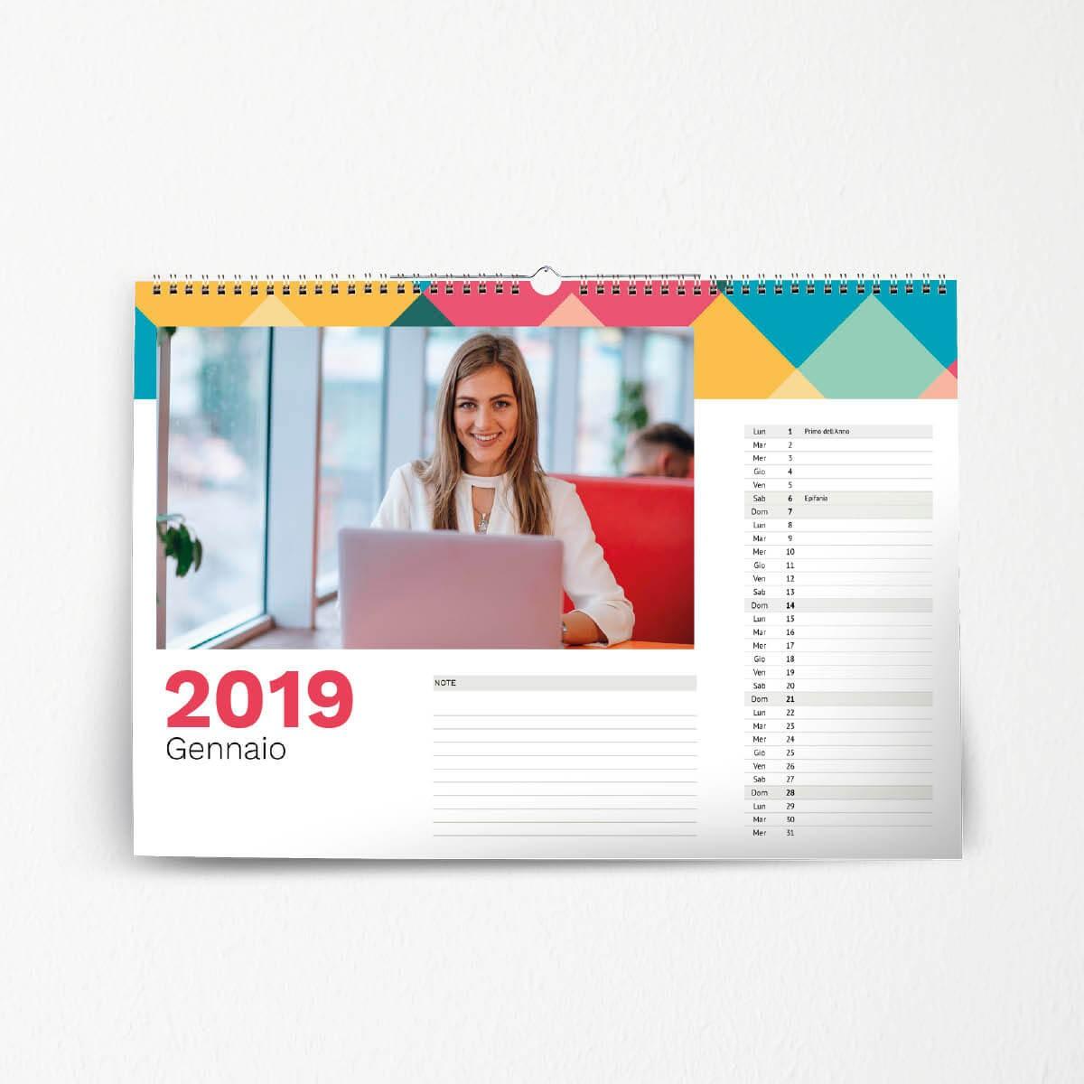 calendario parete office 31x21 cm