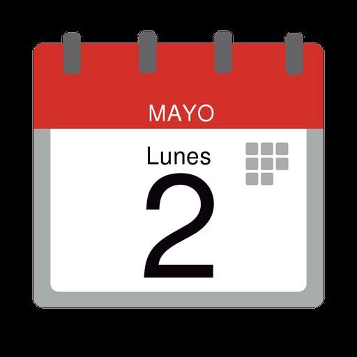 icono plano de la oficina de calendario