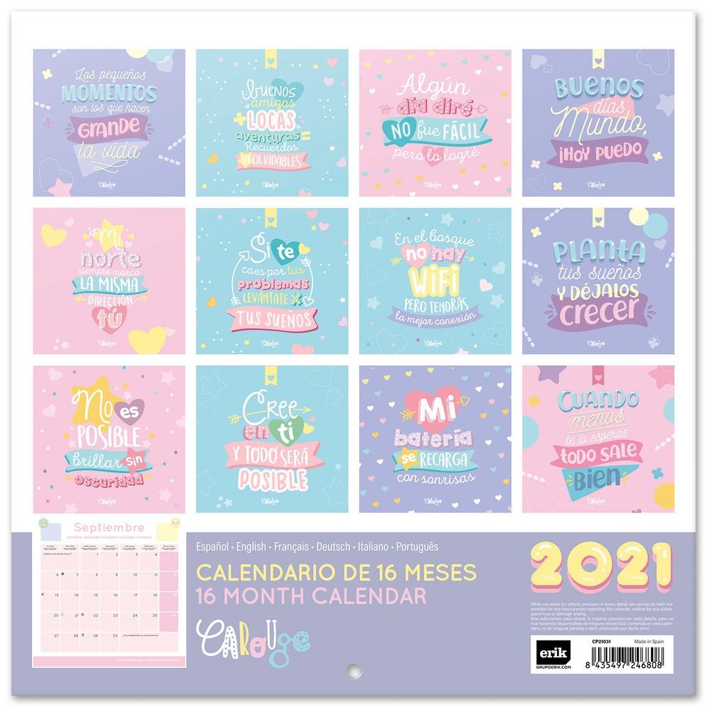 calendario 2021 30x30 carouge