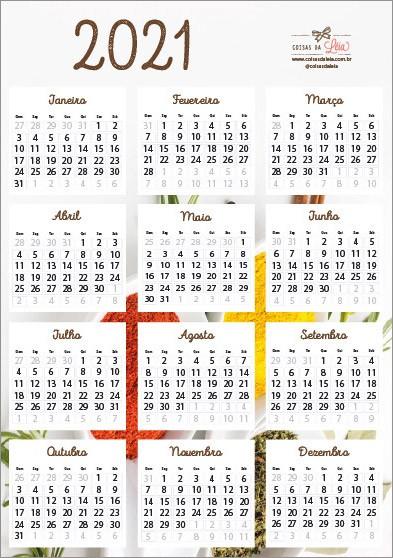 calendario 2021 especiarias