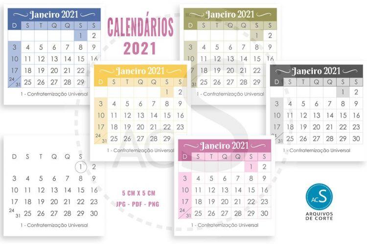 Calendario Quaresima 2021 Mejores Y Más Novedosos Calendário 2021 Para Imprimir Multicores 5 X 5 Cm E 7 X