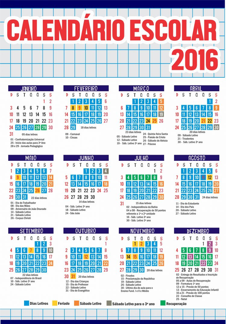 Calendario Sep 2016 Recientes Escola Presbiteriana Do Canal