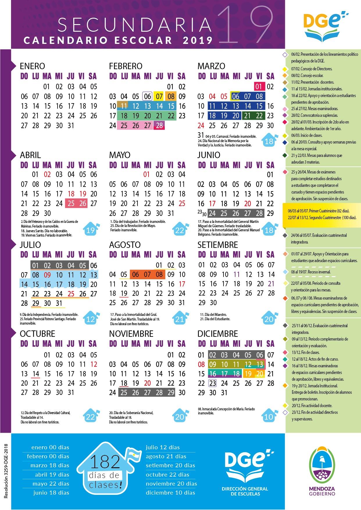calendarioescolar 2019