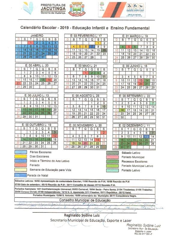 3115 calendario escolar 2019