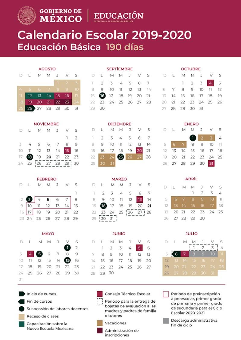 calendario escolar sep 2020 2020