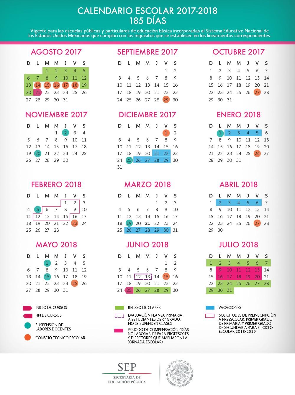 calendario oficial sep