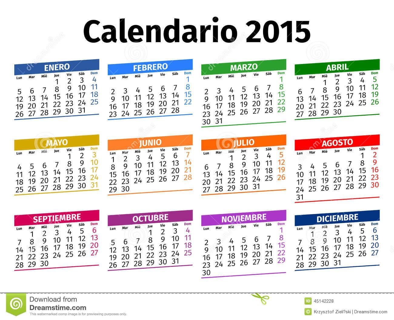 stock photo spanish calendar year image