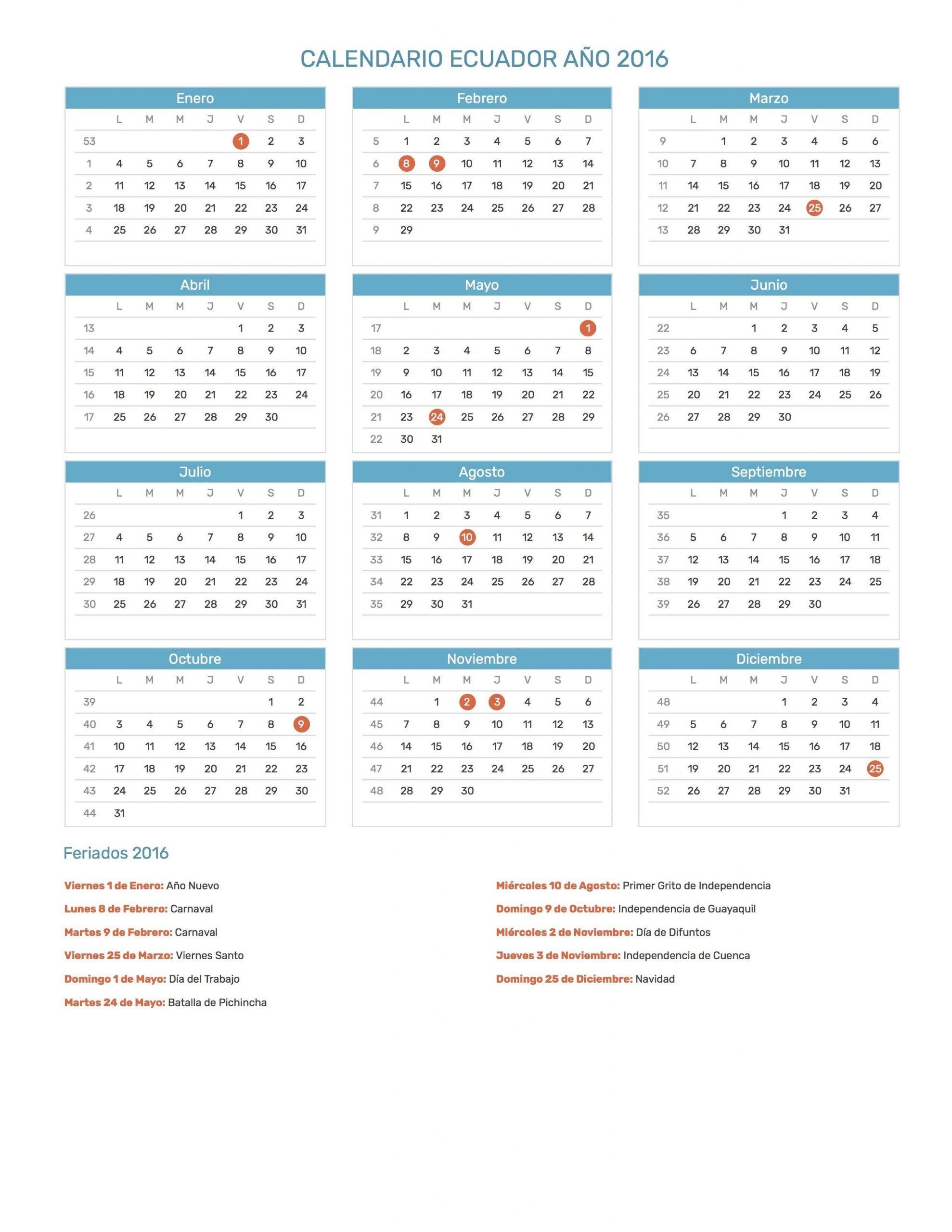 calendario 2019 usa con dias festivos
