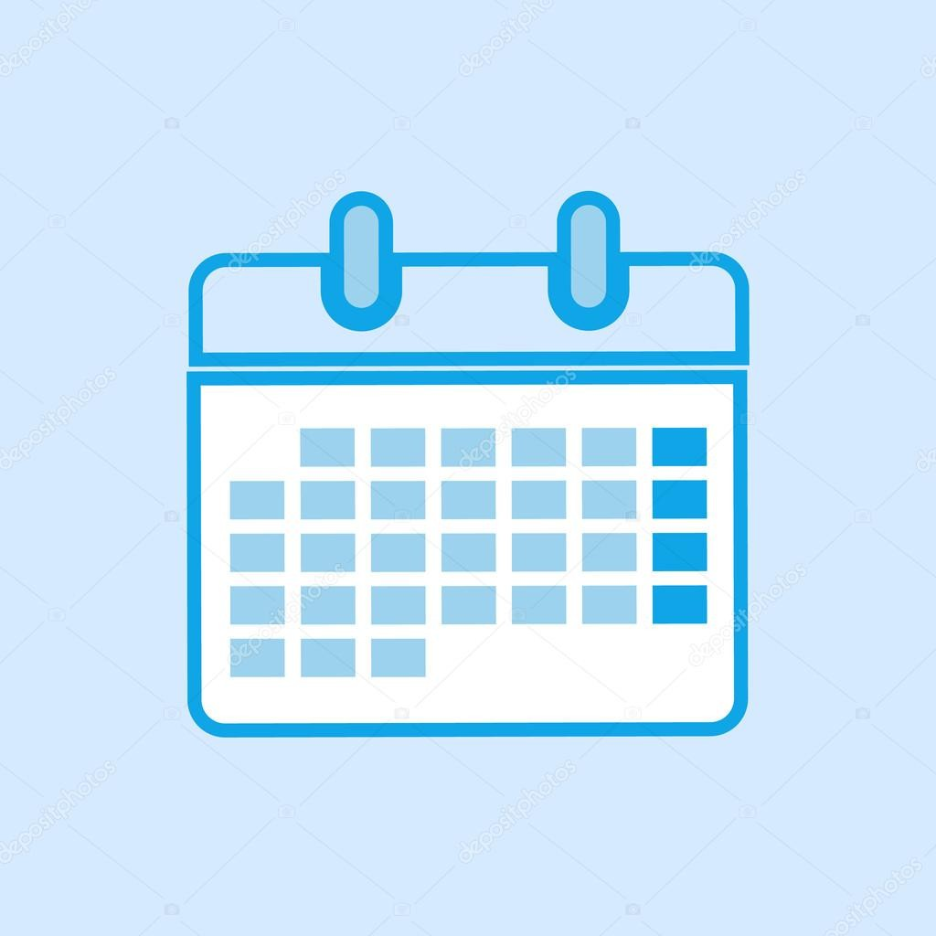 stock illustration calendar vector icon simple blue