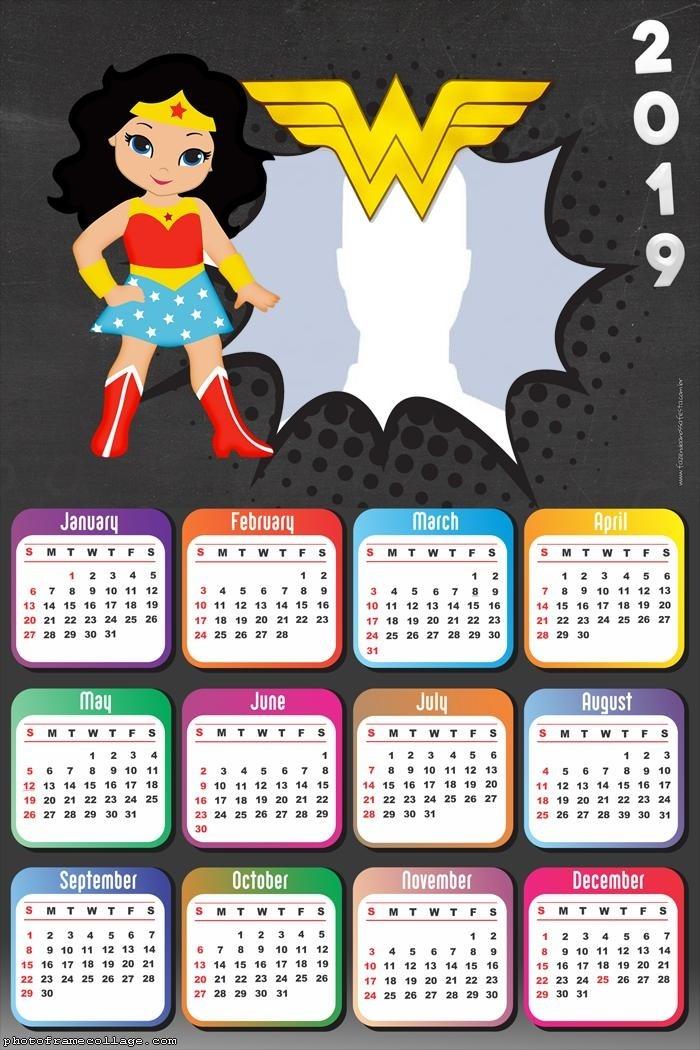 calendario 2019 de la mujer maravilla