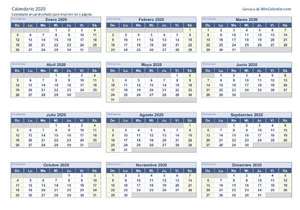 calendarios imprimir estudiantes