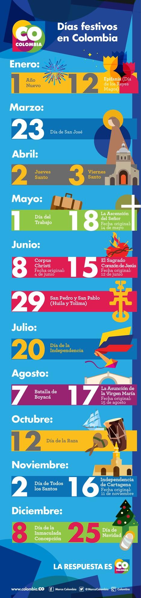 Dias Festivos En Colombia Más Populares Das Festivos En Colombia