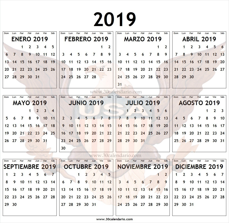 2019 calendario feriados estados unidos