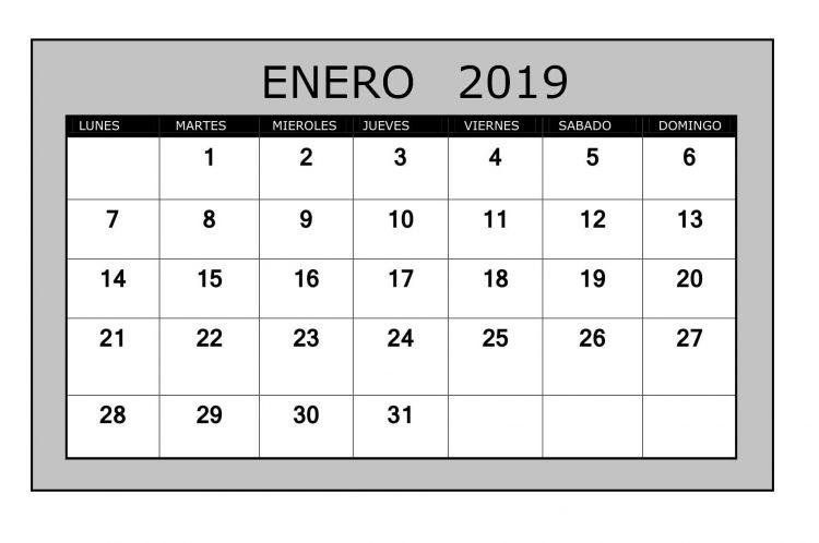 Enero 2019 Para Imprimir Mejores Y Más Novedosos Calendario Enero 2019 Para Imprimir