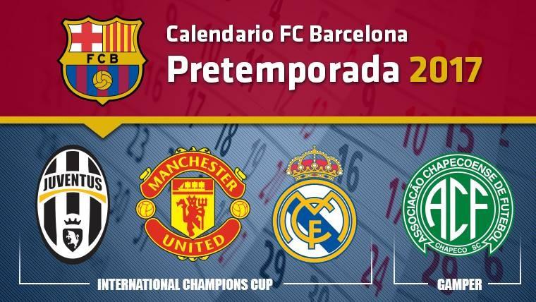calendario fc barcelona pretemporada 2017 2017 06