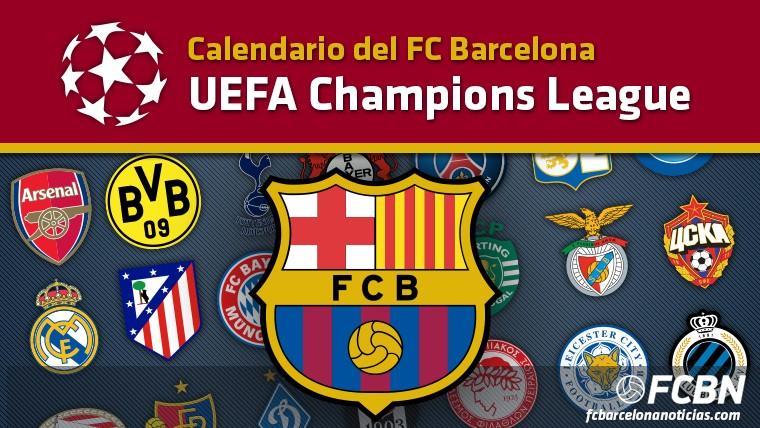 calendario del fc barcelona en la champions league 2016 2017 102