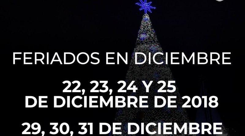 ecuador feriado el 24 y el 31 de diciembre de 2018