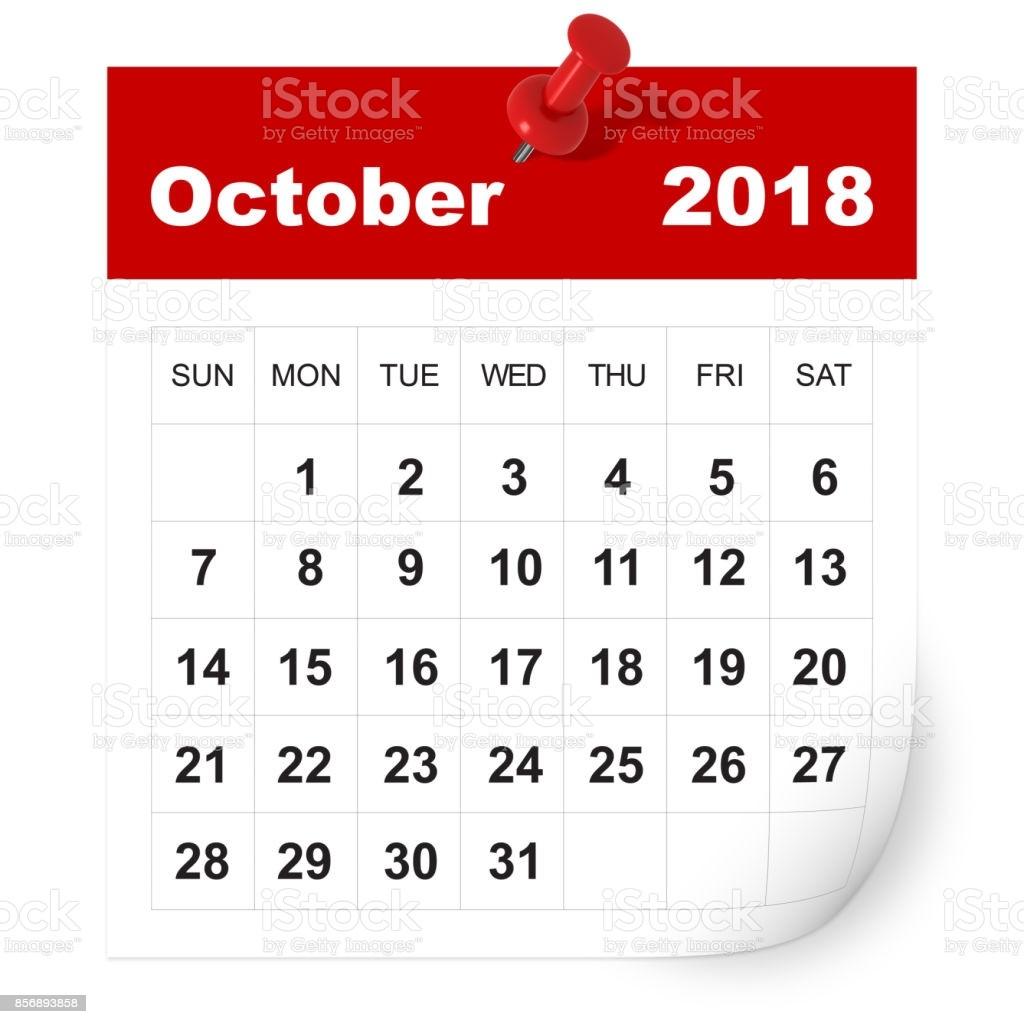calendario octubre de 2018 gm