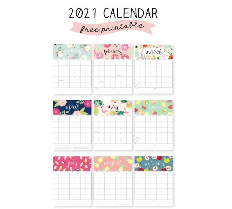 calendarios 2021 para imprimir gratis