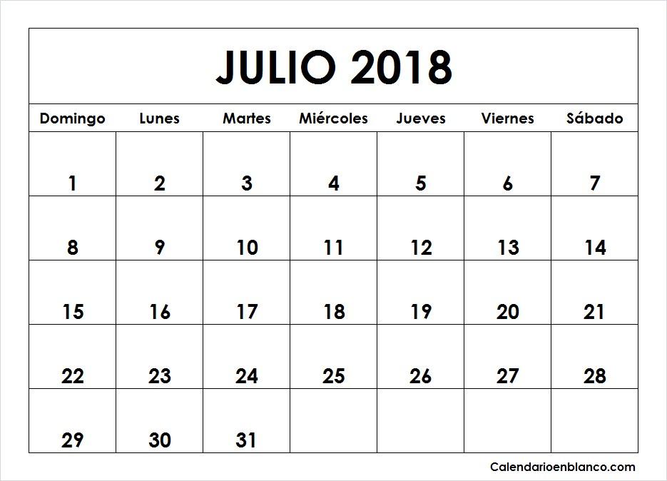 calendario julio 2018 para imprimir 5 2