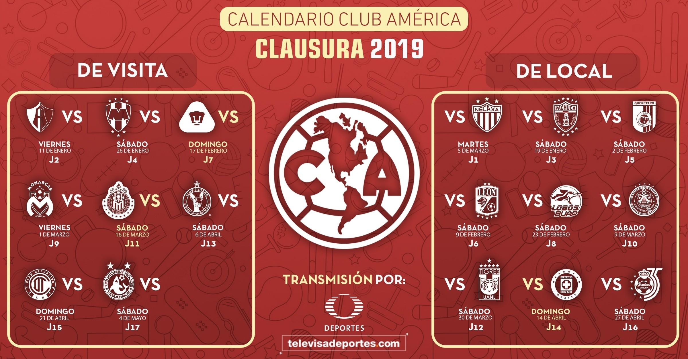 calendario liga mx 2019 2020