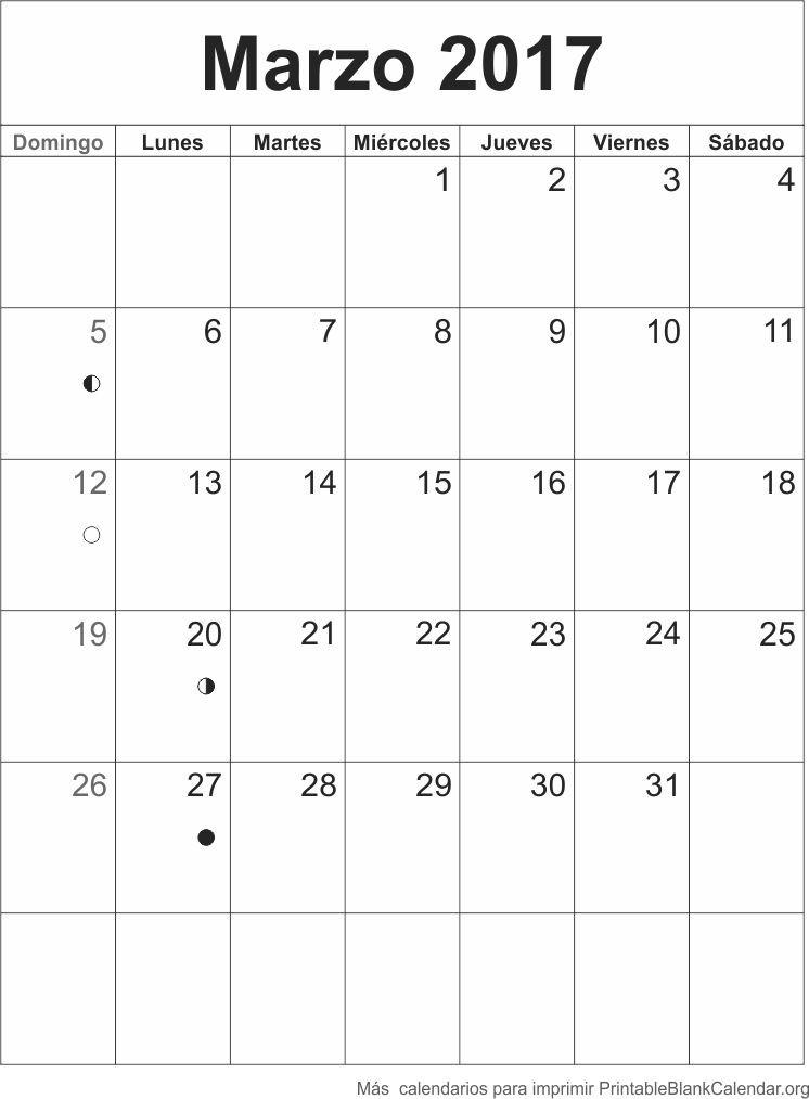 marzo 2017 calendario para imprimir