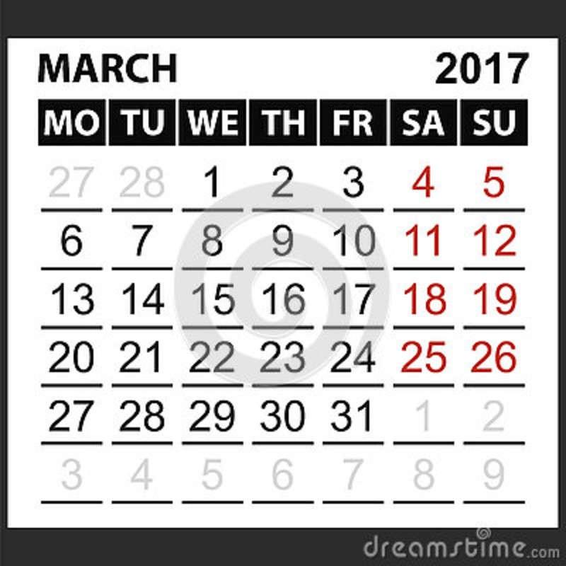 illustrazione di stock calendario strato marzo image