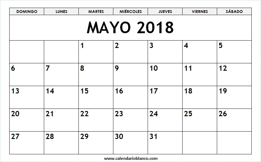mayo 2018 para imprimir