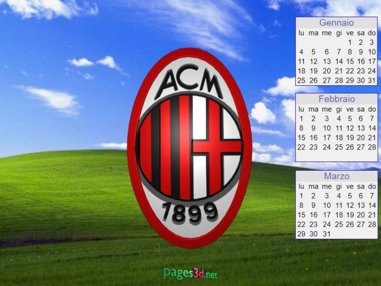 Milan Calendario Más Caliente Calendario 2019 Di A C Milan associazione Calcio Milano