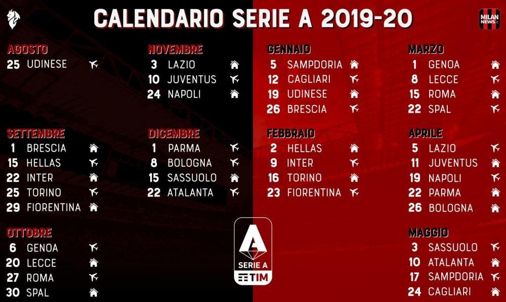 milan 2019 2020 calendario serie a tutti i 38 turni di campionato