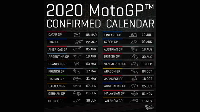 motogp calendario 2020