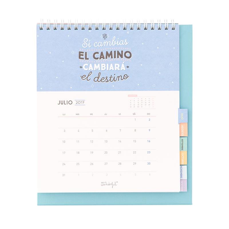 calendario mrwonderful de mesa 2017