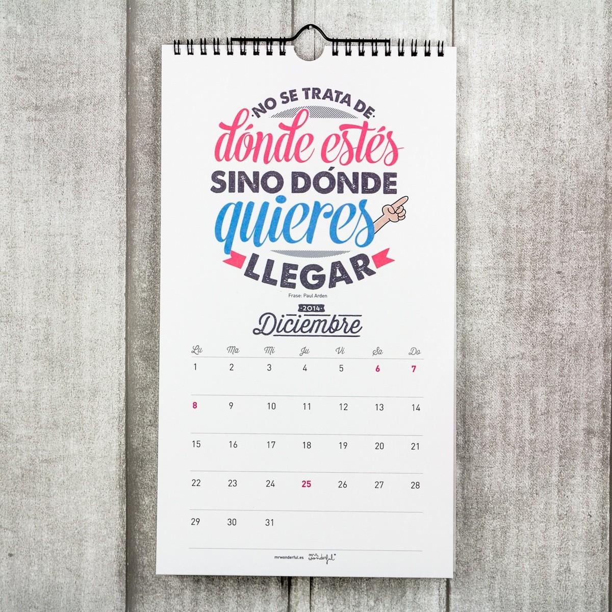 calendarios mrwonderful