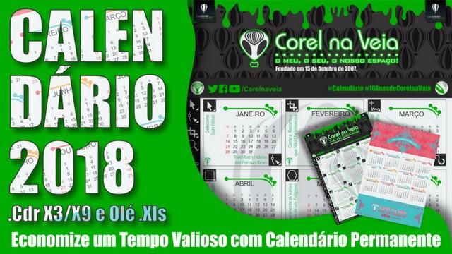 coreldraw 2017 calendario 2018 free em