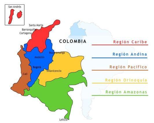 Regiones Más Arriba-a-fecha Regiones Naturales De Colombia