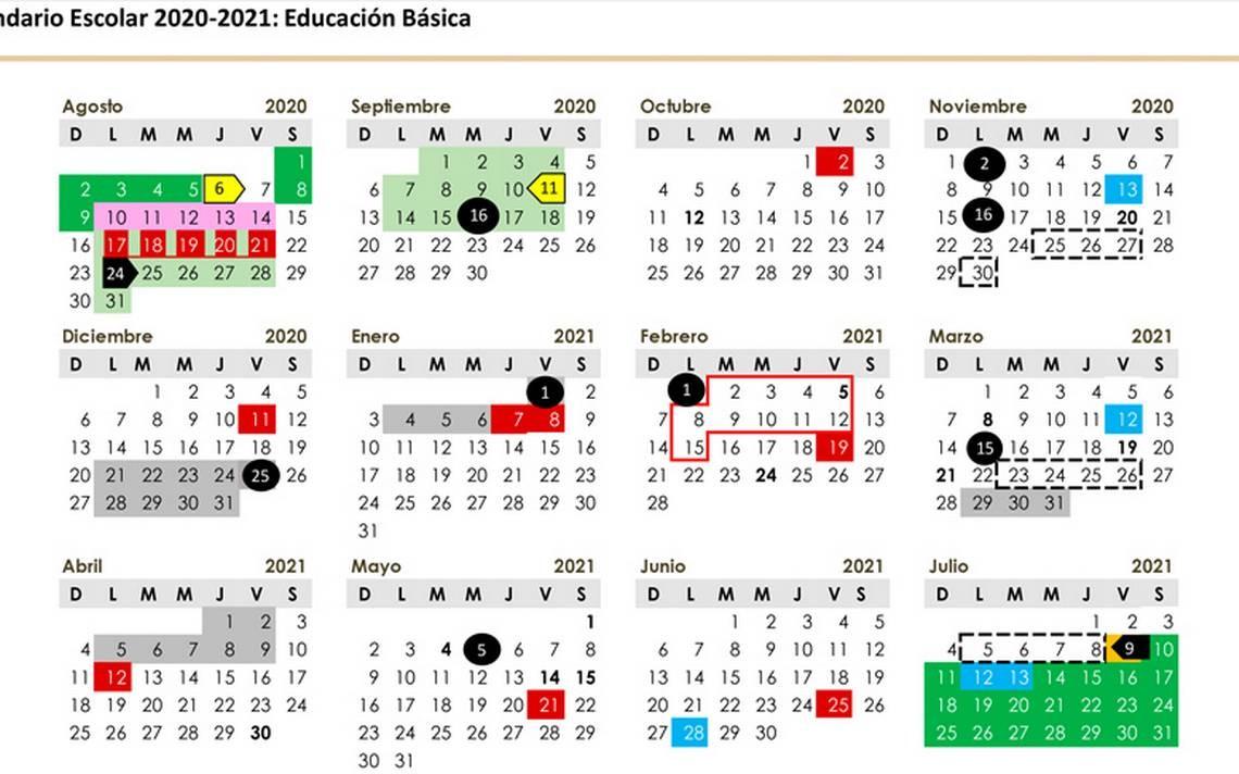 este es calendario sep escolar oficial de educacion basica 2020 2021