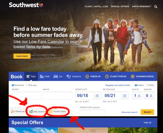 how to find the cheapest flights on southwest