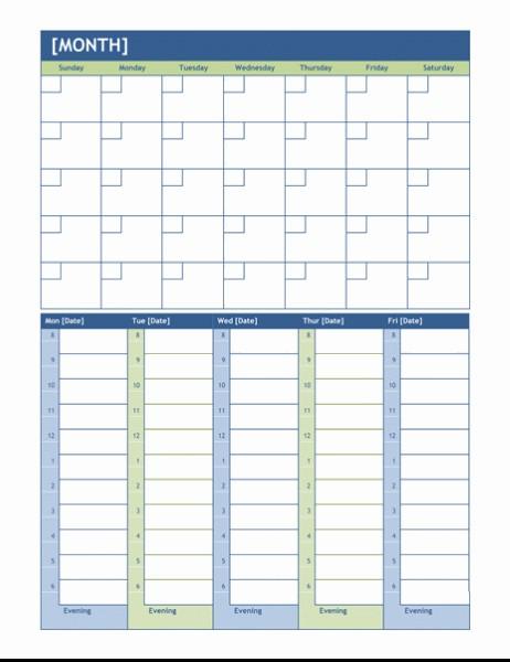 Templates Calendarios Más Caliente Monthly and Weekly Planning Calendar