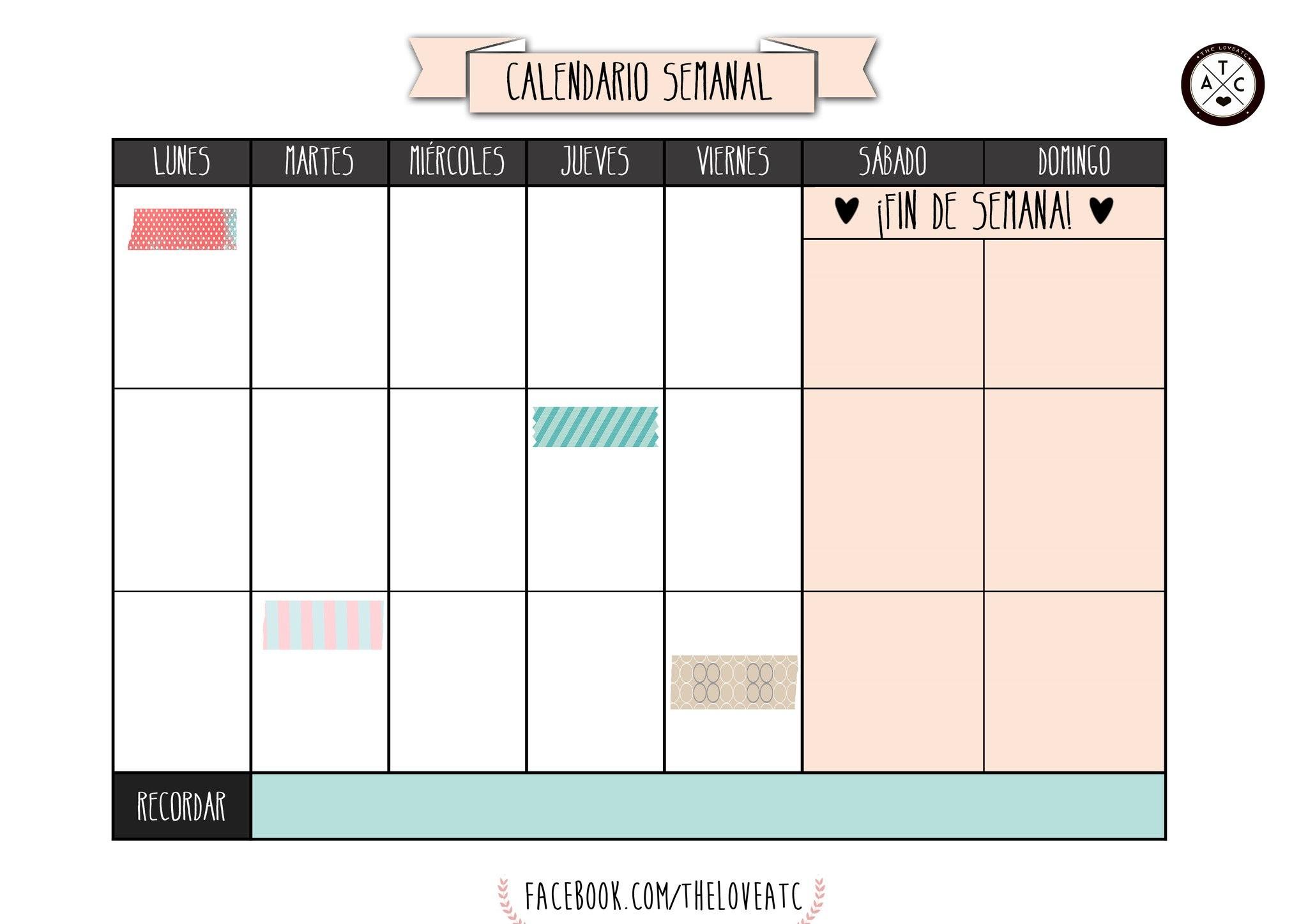 Plantillas y horarios semanales