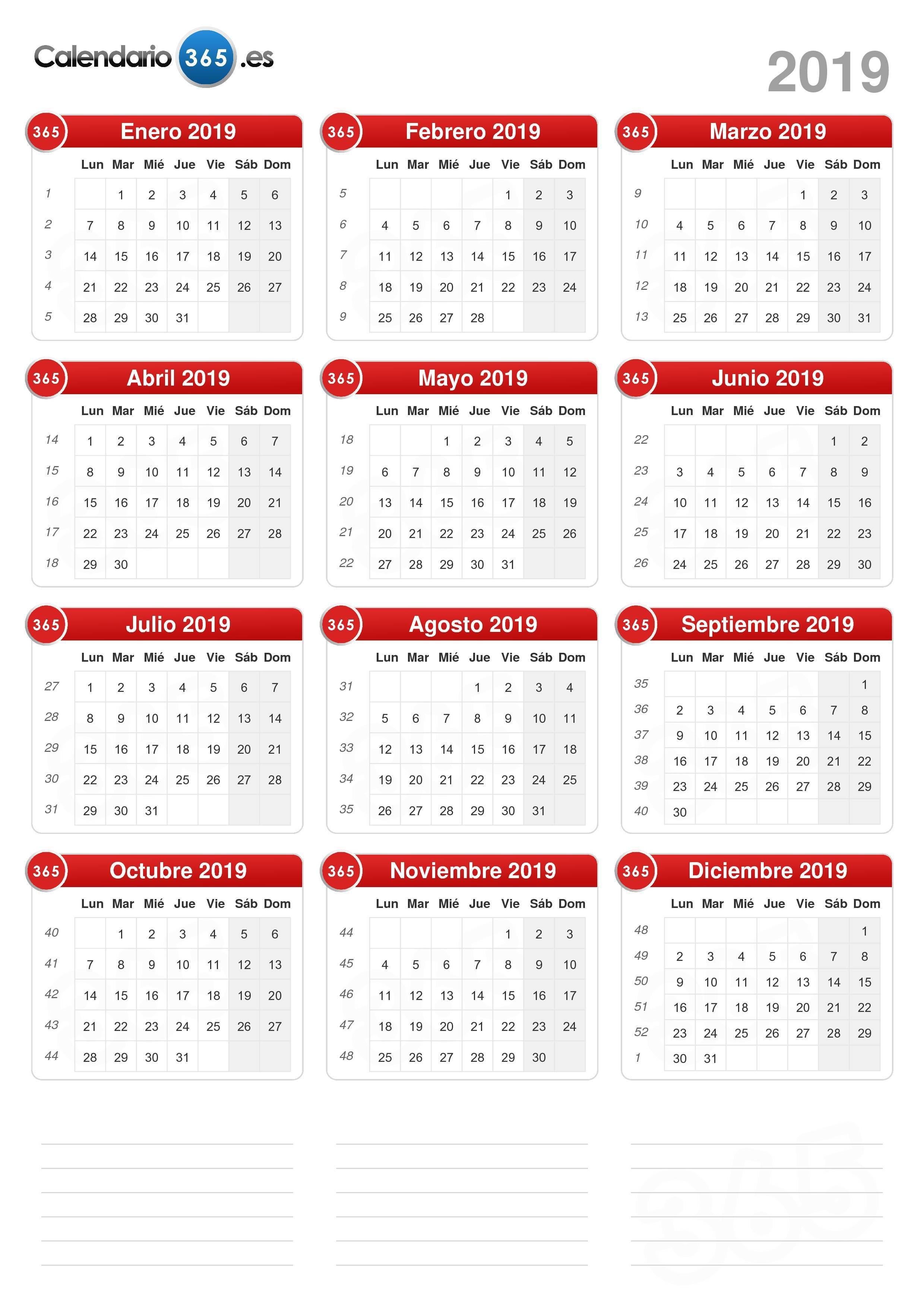 Calendario 2019 Con Festivos Comunidad Valenciana Mejores Y Más Novedosos Calendario 2019