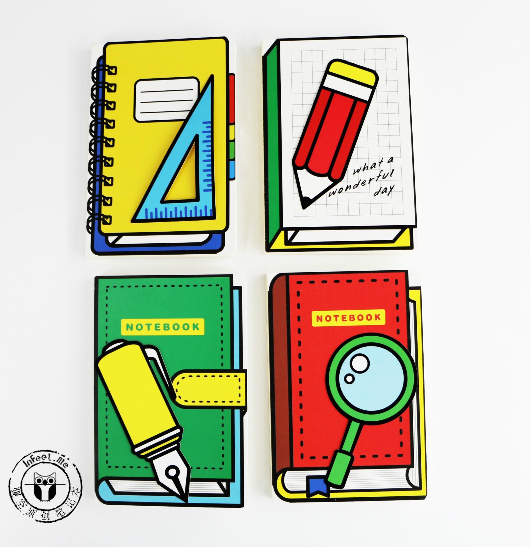 Elemento cuadrática de Escritorio Creativos štiles Escolares Cuaderno A5 Páginas En Blanco del Cuaderno
