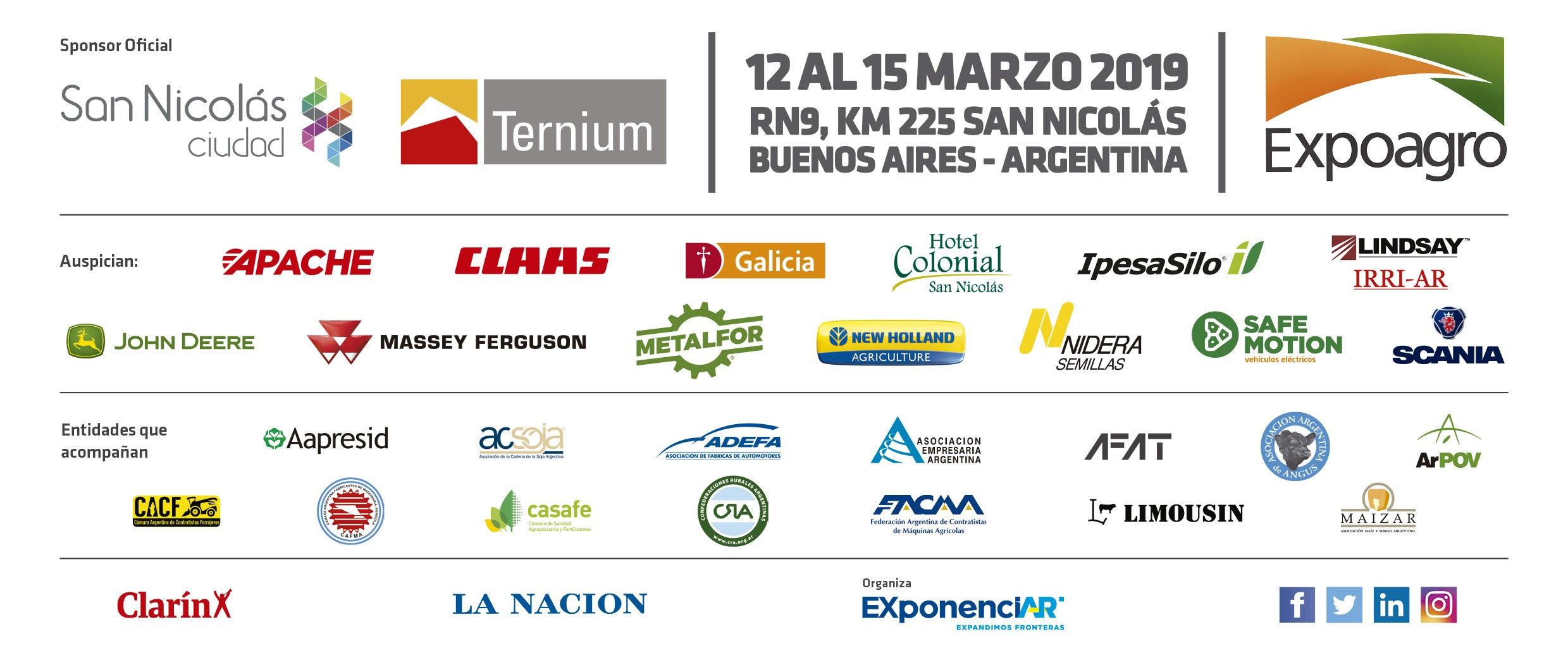 Calendario 2019 En Argentina Más Caliente Expoagro – La Exposici³n Agroindustrial A Campo Abierto Más