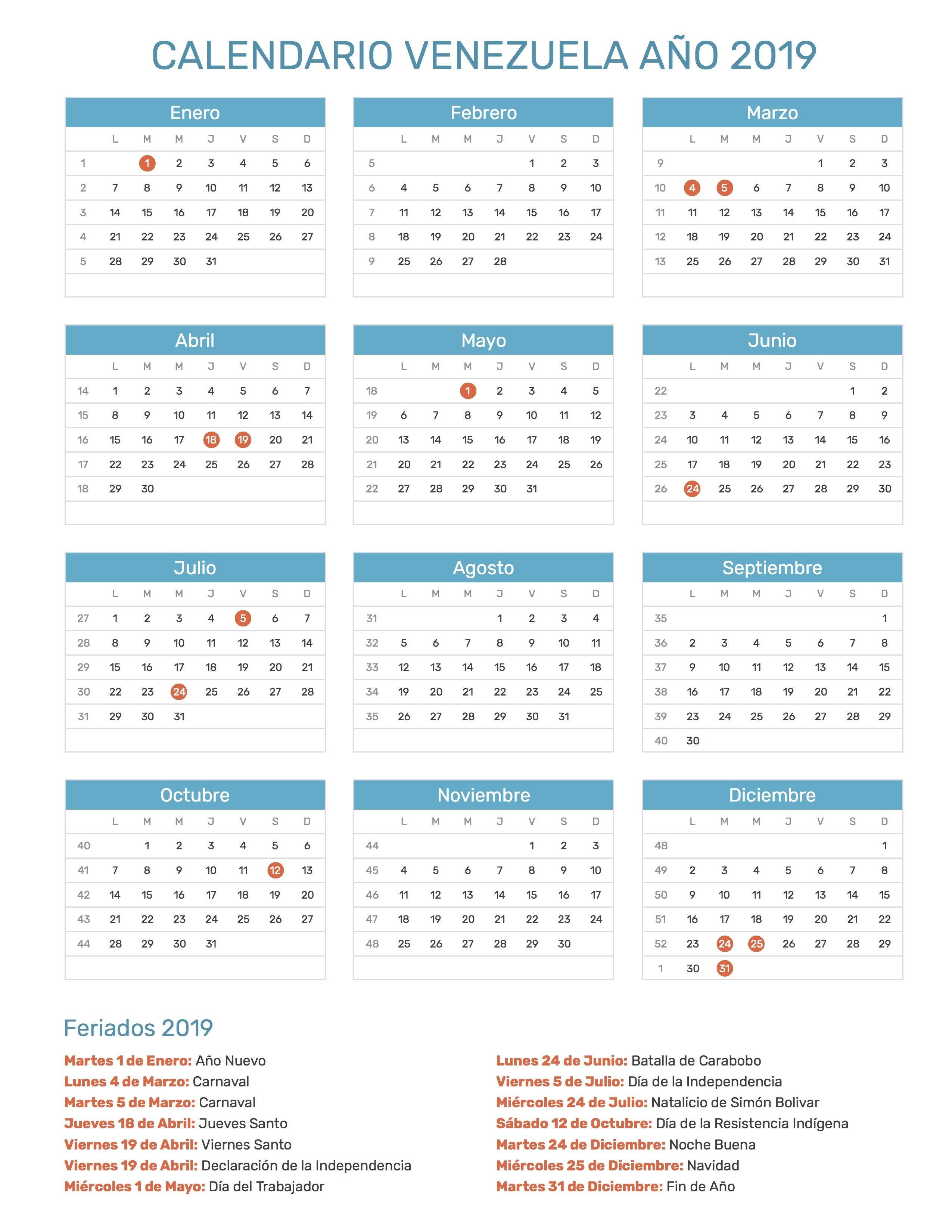 Calendario 2018 Chile Das Festivos Versiones Manualidades Repºblica Dominicana Ejercicios